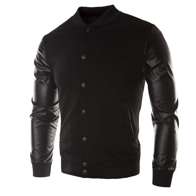 Модная мужская куртка демисезонная: весна-осень! Комбинированная куртка черная!