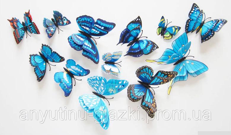 3D-наклейка з подвійним шаром у вигляді метелика