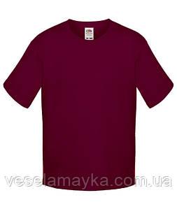 Бордовая детская футболка Премиум
