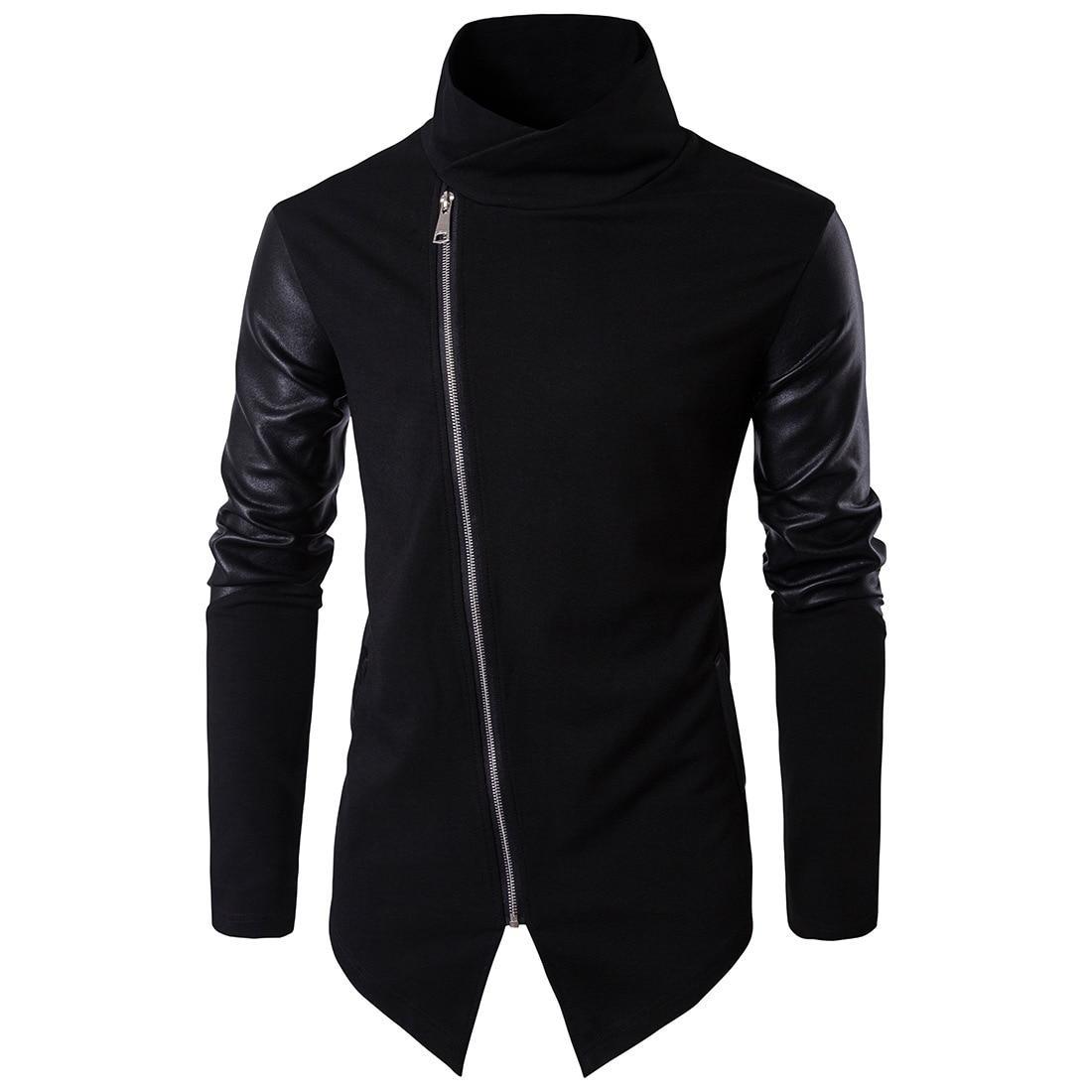 Модная мужская куртка демисезонная: весна-осень! Черное длинное пальто!
