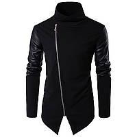 Модная мужская куртка демисезонная: весна-осень! Черное длинное пальто!, фото 1