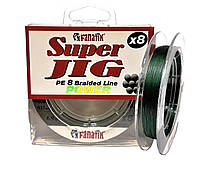 Шнур плетеный FANATIK Super Jig PE X8 100 m (#0,6) 0.12 mm 6.9 kg GREEN