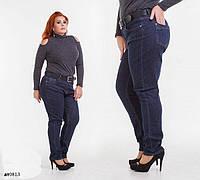 Джинсы средняя посадка стрейч джинс плотный+пояс 32-40, фото 1