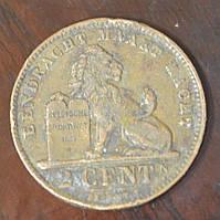 Бельгія 2 сентима 1919 рік
