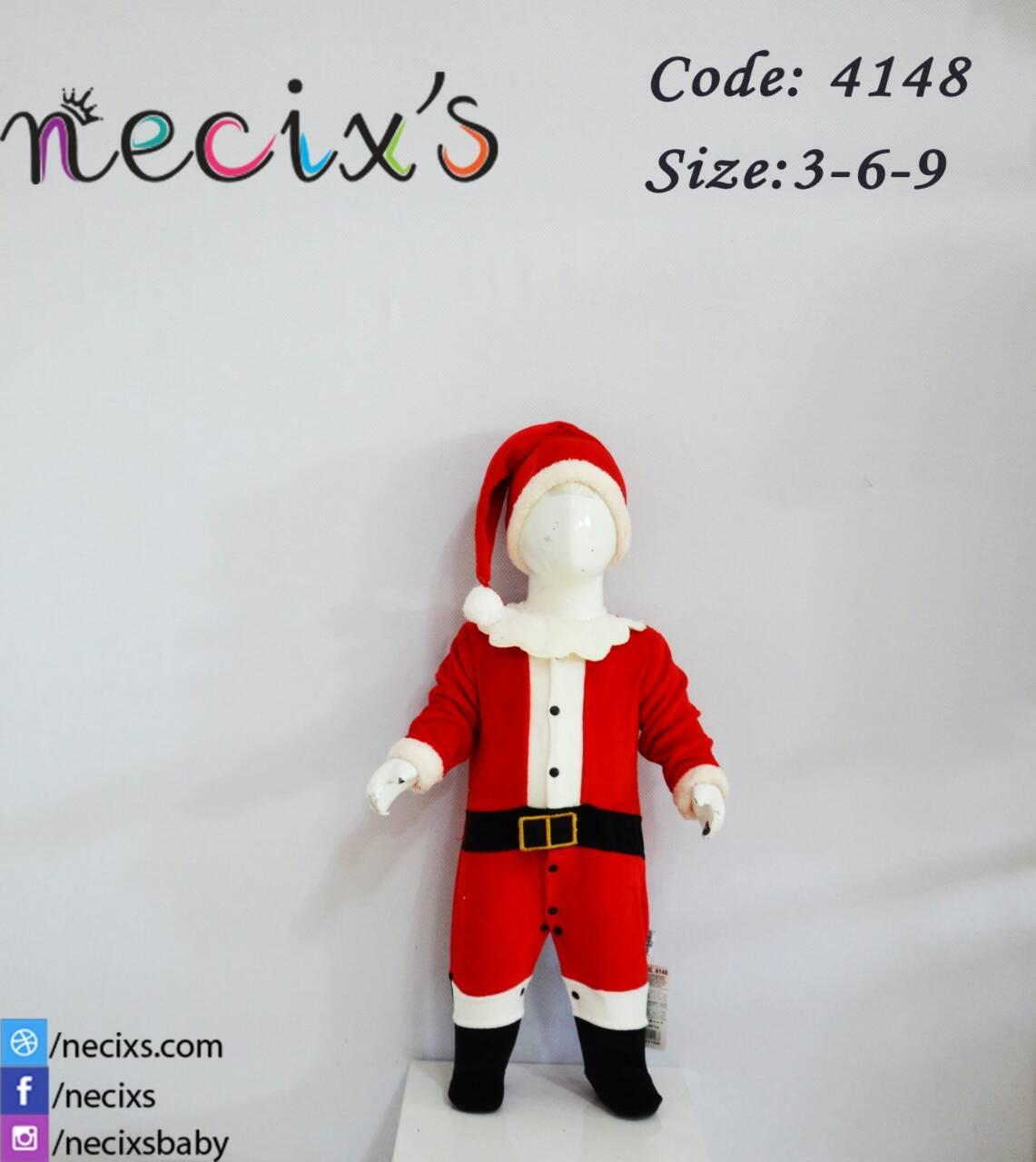 Детский комбинезон и шапка велюр Санта Новогодний 454148