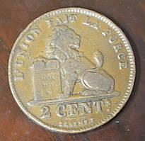 Бельгія 2 сентима 1911 рік