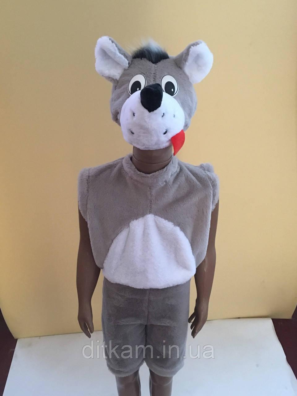 Детский карнавальный костюм Волка 3-5 лет