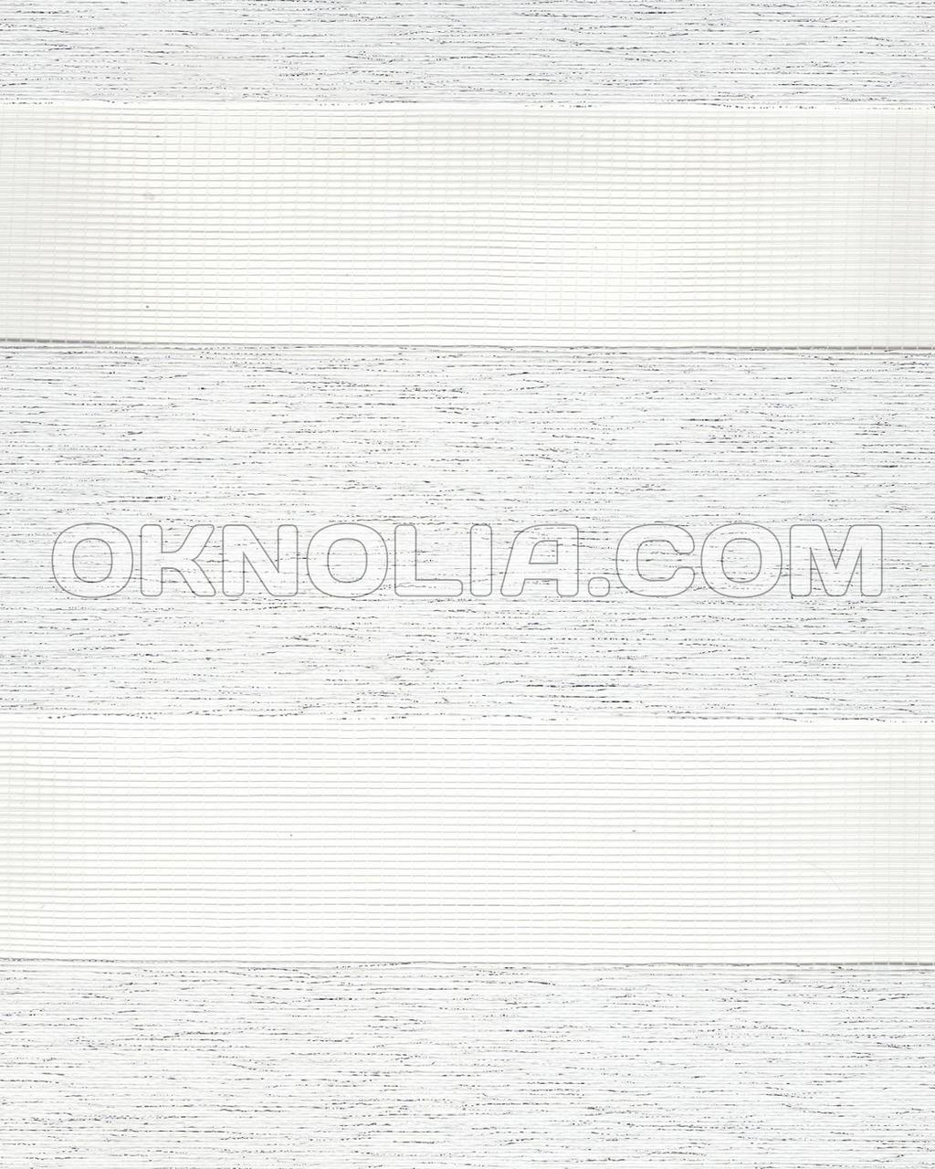 Тканевая ролета День-Ночь Сильвер 2006 белая, 50*170 см