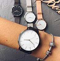 Женские часы Classic steel watch черные, жіночик годинник, кварцевые женские часы с кольчужным ремешком, фото 1