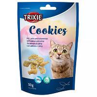 """Trixie Лакомство для кошек 25 г """"Cookies"""" печенье с лососем и кошачьей мятой 50 г"""