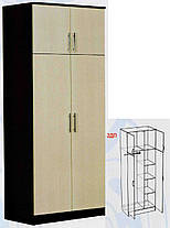Шкаф 2ДП Модерн ДСП   2100х900х530мм  Абсолют, фото 2