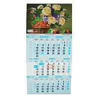 Календарь настенный квартальный на 2019 г. Букет