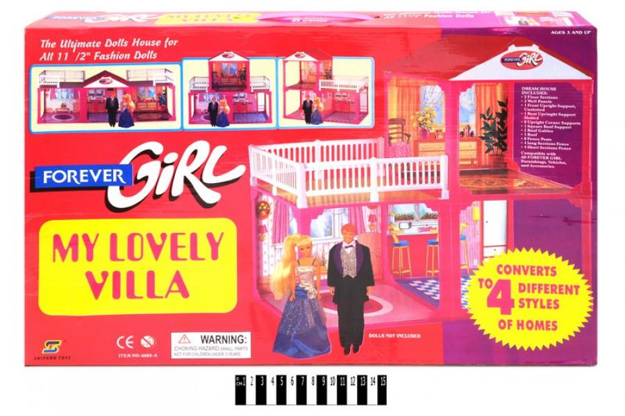 Кукольный домик для Барби My lovely villa 6982А  с мебелью, 2 этажа, 4 варианта сборки