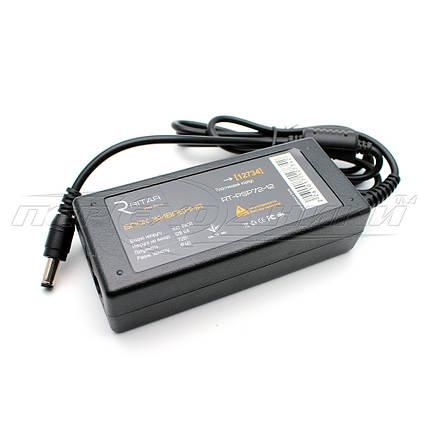 Импульсный блок питания 12V 6A (72Вт) для CCTV, штекер 5.5х2.5 мм, 1 м (высокое качество), фото 2
