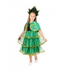 Карнавальный костюм ЁЛОЧКА на девочку 4,5,6,7,8,9 лет, детский новогодний костюм Ёлка, маскарад