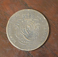 Бельгія 2 сентима 1870 рік