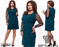 Изящное короткое платье батал с 52 по 58 размер, фото 1