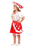 Детский карнавальный маскарадный костюм Грибочек мухомор девочка размер:104-134 см, фото 2