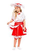 Детский карнавальный маскарадный костюм Грибочек мухомор девочка размер:104-134 см