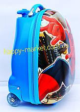 Чемодан детский дорожный качество Люкс детский ручная кладь Josef Otten  Паук Spiderman 16-JDX-76, фото 3