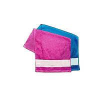 Махровое полотенце с атласной вставкой для термопечати