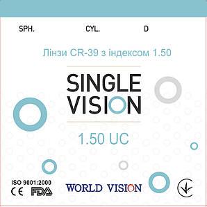 Линзы CR-39 VISION с индексом 1,50 Стигматика/Астигматика (без покрытия)
