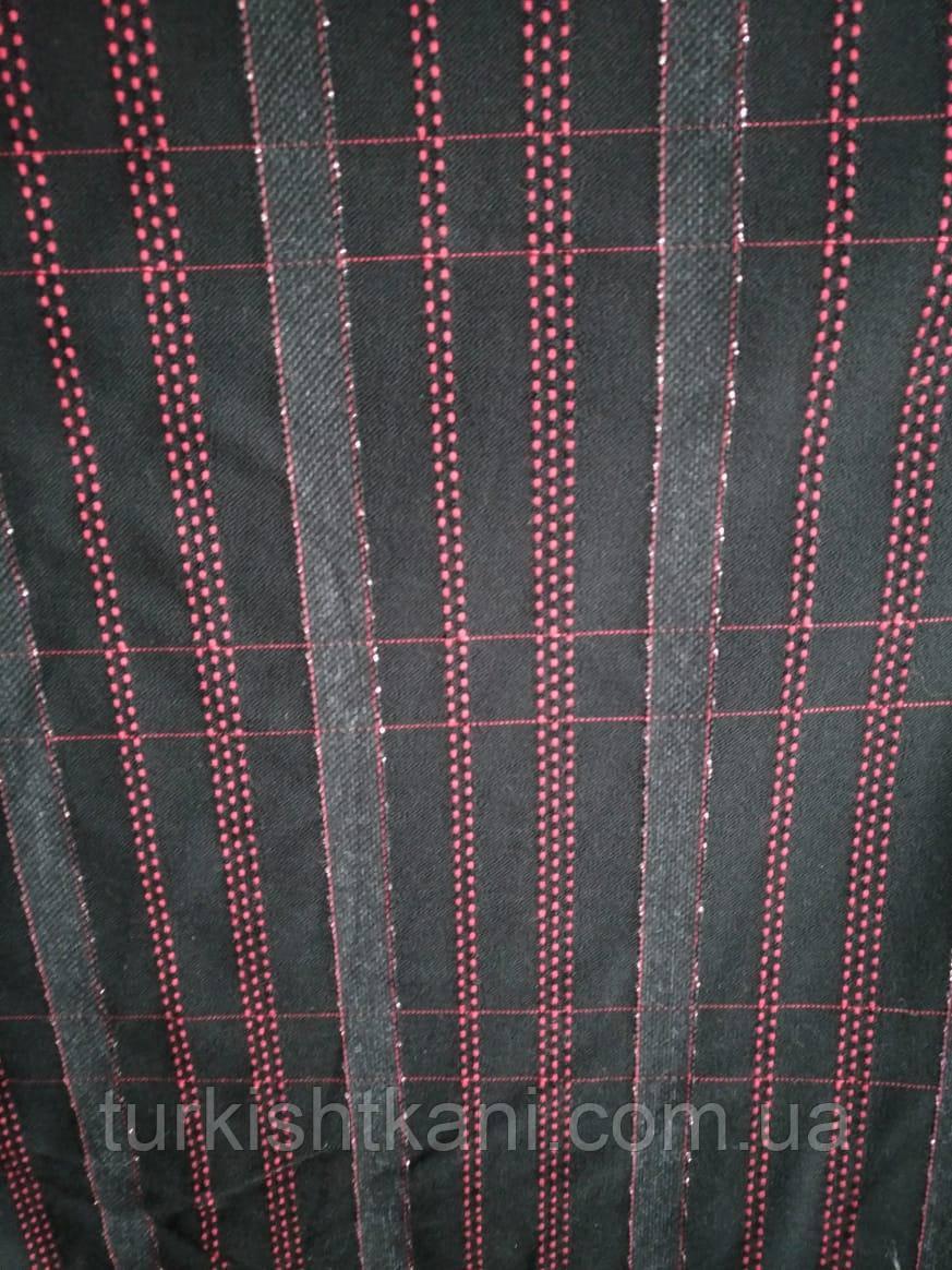 Ткань Клетка Шерстяная стрейчевая
