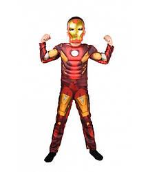 Карнавальный костюм ЖЕЛЕЗНЫЙ ЧЕЛОВЕК на 4,5,8,9,10 лет, детский маскарадный костюм на мальчика СУПЕРГЕРОИ