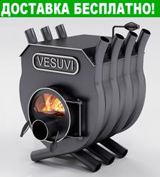 Печь Булерьян Vesuvi с варочной поверхностью со стеклом (6 кВт, до 125 куб.м)