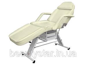 Косметологічна кушетка крісло косметологічне на 3 секції механічне регулювання  мод 202