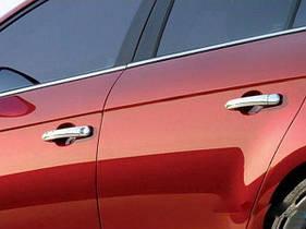 Накладки на ручки (4 шт., нерж.) - Fiat Bravo 2008+ гг.