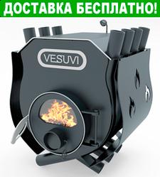 Печь Булерьян Vesuvi с варочной поверхностью стеклом и перфорацией (6 кВт, до 125 куб.м)