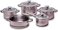 Набор кухонной посуды Kamille Springfield 9 предметов, нержавеющая сталь, фото 1