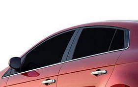 Молдинги для стекол (6 шт, нерж.) - Fiat Bravo 2008+ гг.