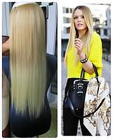 Волосы ТЕРМО на заколках 7 прядей 55см №27Т613 омбре светло-русый блонд