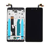 Дисплей для Xiaomi Redmi Note 4X + touchscreen, черный, с передней панелью Высокое качество