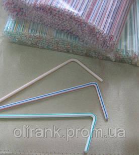 Трубочка стандарт гофра ПОЛОСА 210мм,4,8мм 200шт/уп (60уп/ящ)