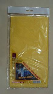 Скатертина п\е жовта ЩІЛЬНА 120*200 уп.(10)