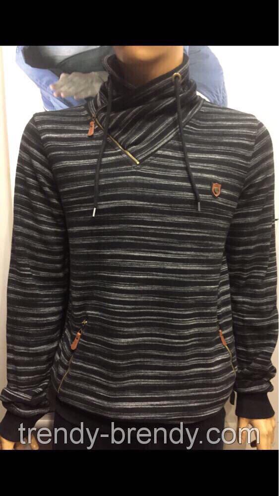 Стильные мужские турецкие свитера с хомутовым воротником