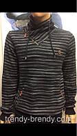 Стильные мужские турецкие свитера с хомутовым воротником, фото 1