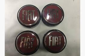 Колпачки в титановые диски 55 мм (4 шт) - Fiat Bravo 2008+ гг.