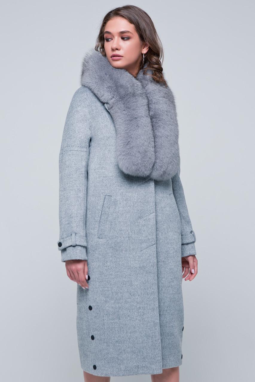 Жіноче зимове пальто «Нінель» сіре