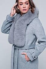 Жіноче зимове пальто «Нінель» сіре, фото 2