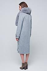 Жіноче зимове пальто «Нінель» сіре, фото 3