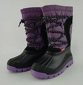 Сапоги для девочек Зима Samanta Фиолетовый, размер 31-32, 1304(31-32) Demar Польша