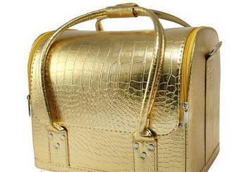 Кейс для майстра манікюру і візажиста золото