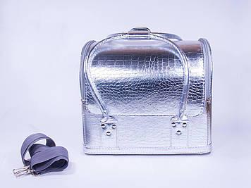 Кейс для майстра манікюру і візажиста срібло