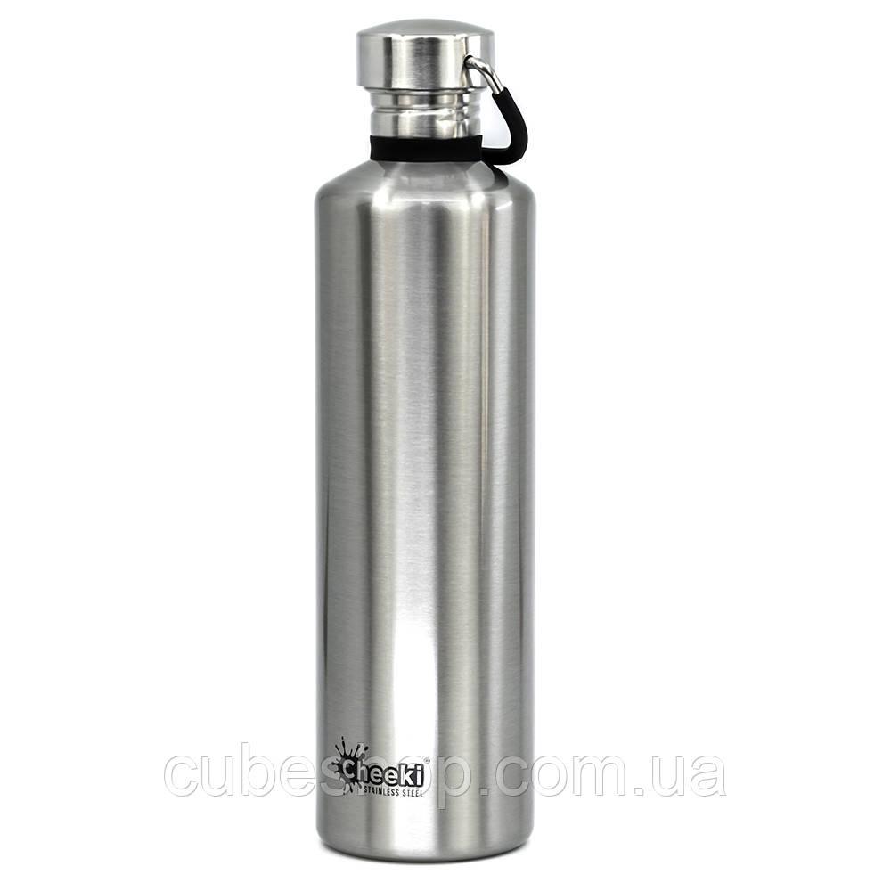 Бутылка для воды Cheeki Classic Single Wall Silver (1 литр)
