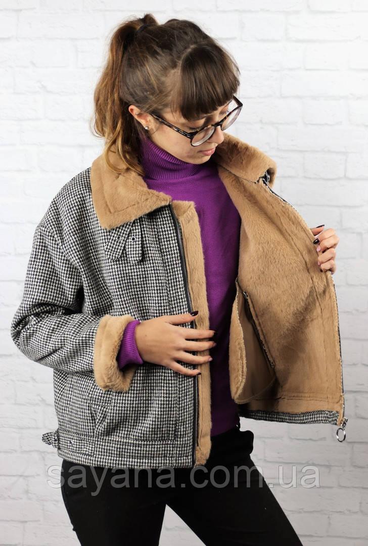 Женская куртка на меху. БР-16-1018