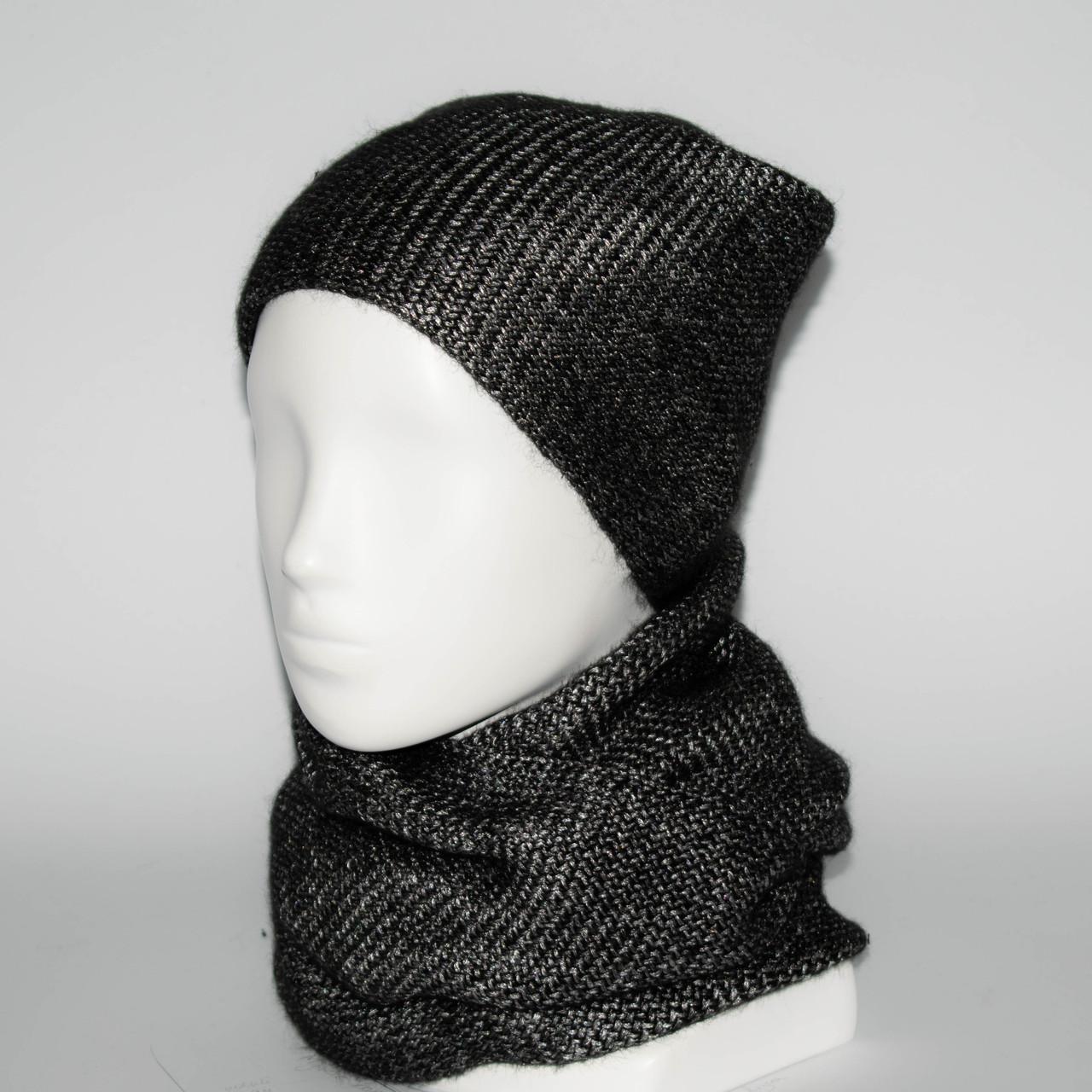 Женский комплект шапка + снуд (код 00237)